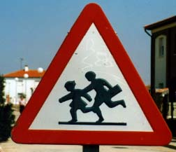 Beware of schoolchildren I