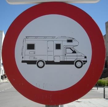 No motorhomes in Tarifa