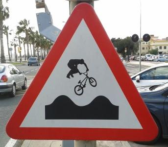 Bumpy road in Málaga