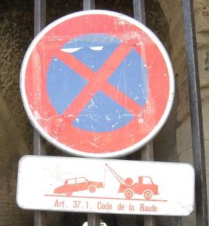 Cars get towed away at Arles