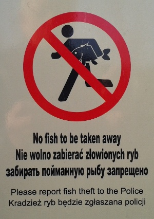 No fishing at Evesham