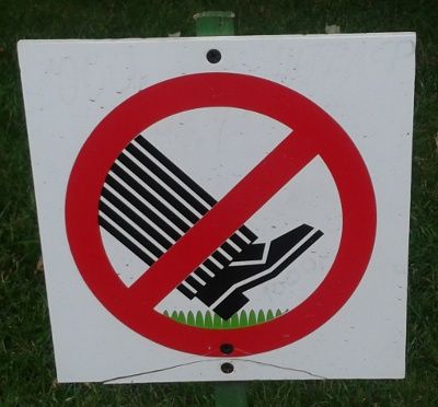 No walking on the grass