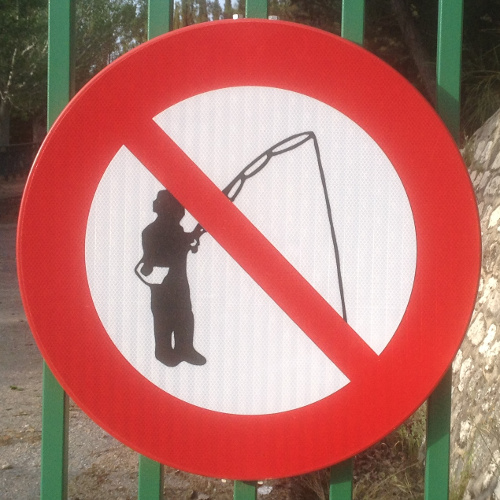 No fishing in Lake Colomera