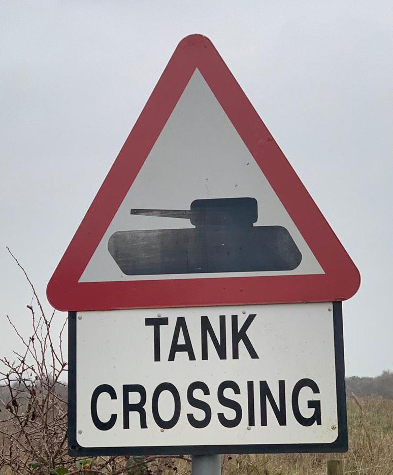 Tank near Cadbury