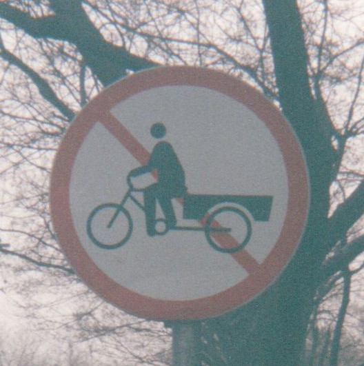 No carts drawn by bicycles